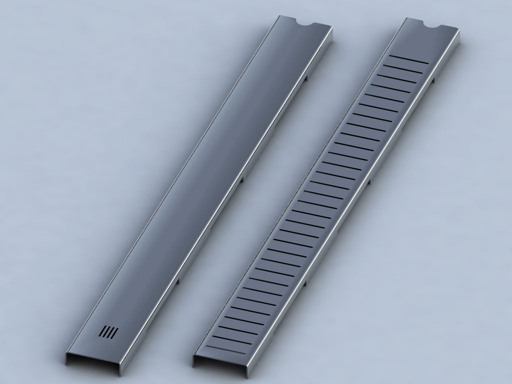 Stainless Steel channel drain cover in slotted and plain