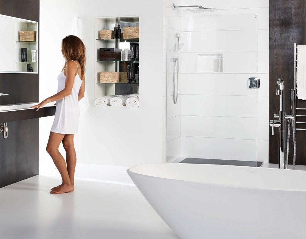Comtemporary bathroom shower